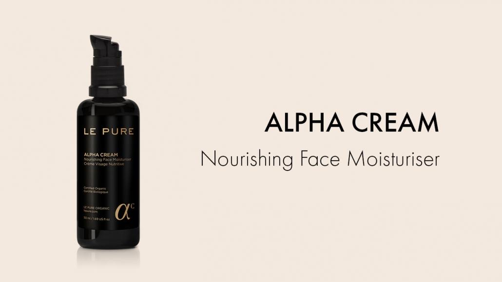 LE PURE Product Alpha Cream Nourishing Face Moisturiser