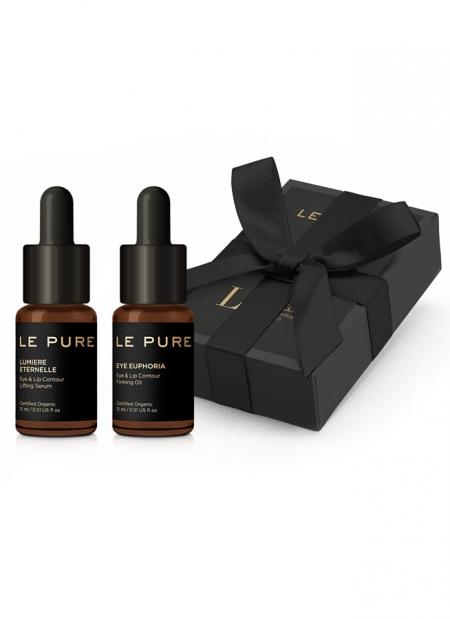 set de regalo con due prodotti per occhi e labbre